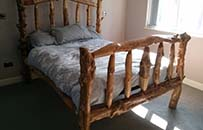 roundwood bed rustic bed