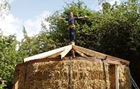 outdoor classroom, straw bale, roundhouse