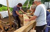 oak framing course, wildlife trust