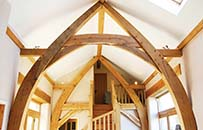 Cruck frame, oak frame, timber frame